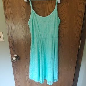 Perfect condition Teal spaghetti strap lace dress